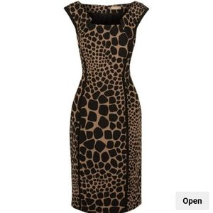 Michael Kors Collection Italy Animal Fitted dress
